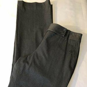 ANN TAYLOR LOFT Stretch Tweed Gray Pants Size 8